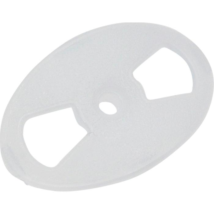 """Nagelscheibe """"Oval"""" - VE 100 Stück - Polyethylen, opak - Scheibe 25 x 38 mm"""