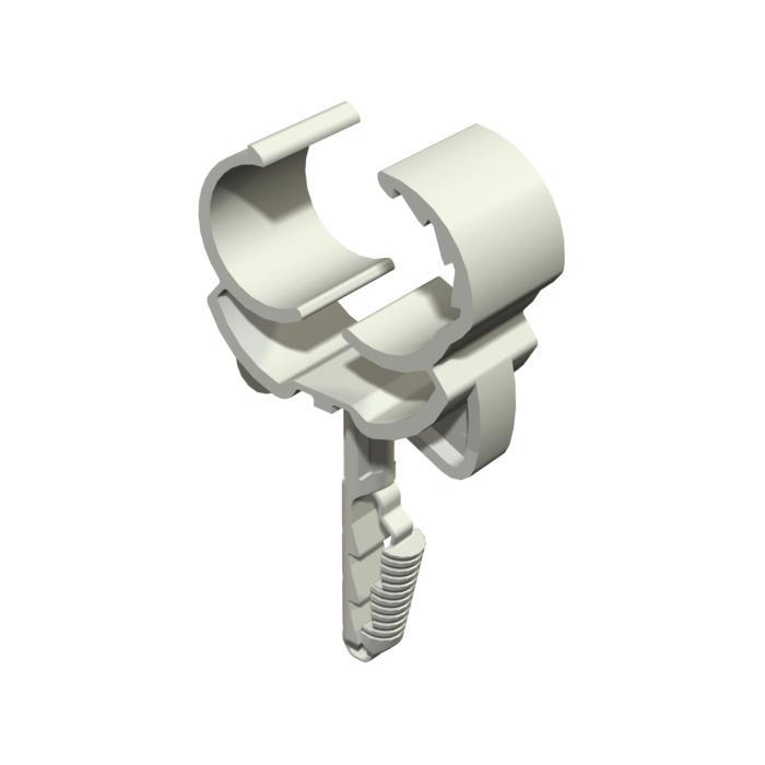 Steck-Click Schelle - Polyamid - Farbe lichtgrau - VE 100 Stück