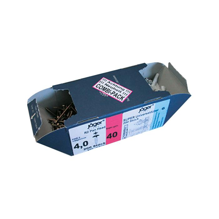 Combi Pack viti + tappi - Pozidriv o Torx - doppie con 2 cassetti box