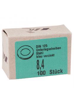 Unterlegscheibe - blau verzinkt - Stahl - VE 100 Stück