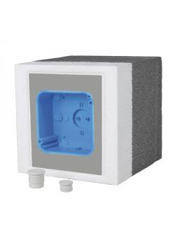 Elektrosystem mit Abzweigdose E-116 - 115 x 115 x 76 mm - Kabeleinführung Ø 10 mm