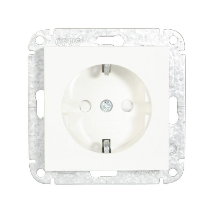 Earthed socket Opus 55 - with child protection - 250 V AC, 50 Hz, 16 A