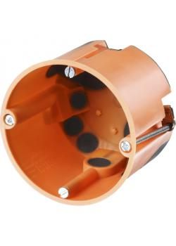 Schalterdose - Ø 68 mm - winddicht - Flach/tief - Farbe orange - 25 Stück