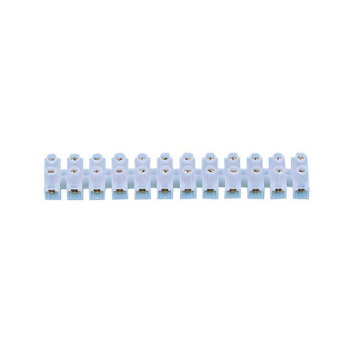 VDE Lüsterklemme - 12 pole - ledare till 6 mm² - 10 stycken - Material Polyamid