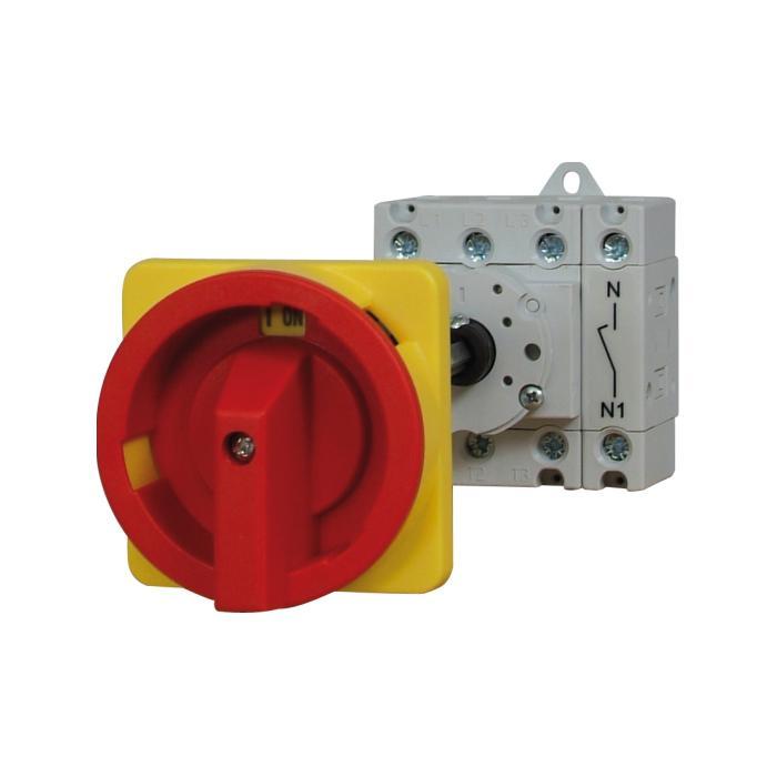 Haupt-Not-Aus-Schalter - für Hutschienenmontage - Spannung AC 21 690 V, AC 23 3 x 400 V - 63 A, 22 kW bzw. 125 A, 45 kW