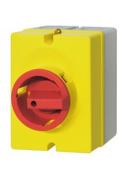 Aufputz Not-Aus-Schalter - 20 A, 7,5 kW - Gehäusemaße 130 x 100 x 80 mm - 4 Schließer