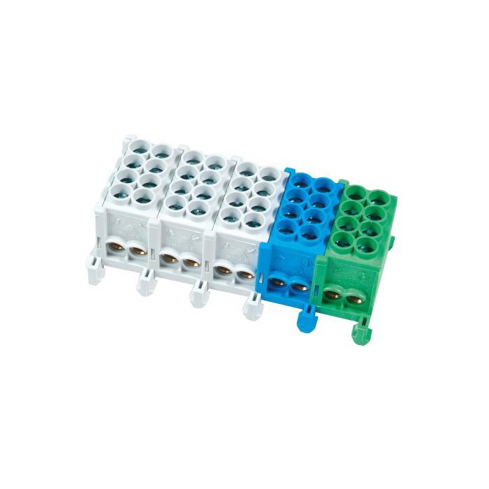 Abzweigklemmen - Nennquerschnitt 25/35 mm² - N/PE farblich markiert - 5-polig