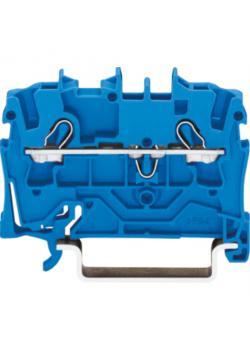Reihenklemme WAGO - Farbe blau - 2-Leiter-Durchgangsklemme - 800 V / 8 kV / 3