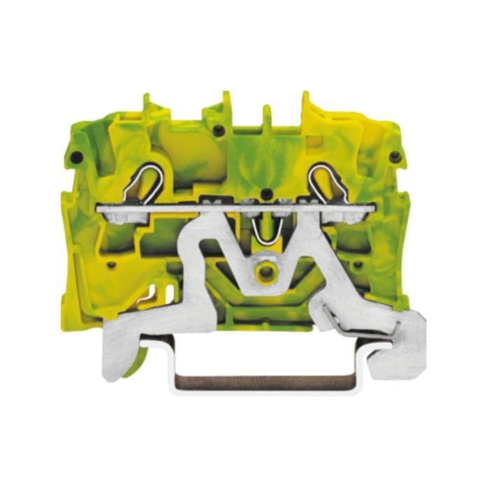 2-Leiter Schutzklemme - Farbe grün-gelb - 800 V / 8 kV / 3