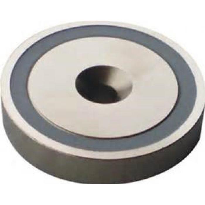 Flachgreifermagnet - aus Neodymium - mit Bohrung - Haftkraft 13-870N