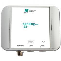 Alimenté par batterie en ligne indicateur de niveau avec capteur à ultrasons