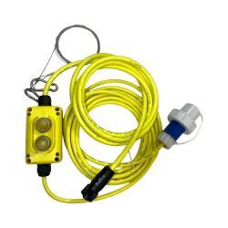 ALDEBARAN® XLD-C Zuleitung SWITCH - Länge 8 m - Switchbox - Stecker Schuko 16A/250V IP68