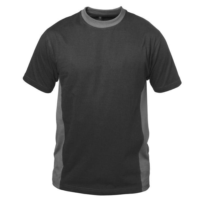 """Arbets T-shirt """"MADRID"""" - svart/grå - Storlekar S-XXXL - 100% bomull"""