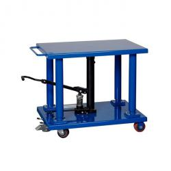 Hydraulic lift table - foot hydraulic - Capacity 900 kg - lifting range from 760 to 1220 mm - roller Ø 100 mm