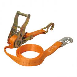 Motorradzurrgurtset front - 6 pieces -. Permissible tensile force 750 daN - orange
