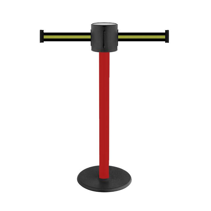 "Bollards ""GLAD 28"" - -max en plastique rouge. Ceinture extension de 2x4 m"