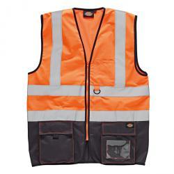 Sicherheitsweste - hochsichtbar - zweifarbig - Größe XXL - orange/navy