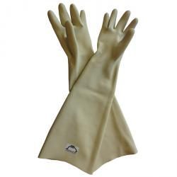 Blasting gloves - latex - material thickness 1.2 mm - CE certified - length approx. 640 mm - size 10
