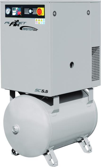 Compresseur à vis - 10 bar - 700-1900 l / min - avec chaudière - 5,5 à 15 KW - MASTER LINE
