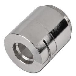 Klämback - för rostfria stålrör - förnicklat stål