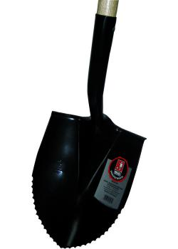 Ballastskyffel - vågslipad - 120 cm - ekskaft - härdad