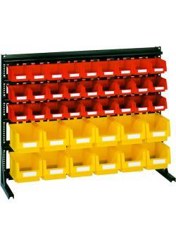 Vario Sichtkastenregal V6B- mit 39 Kästen - 1300x610x765 mm