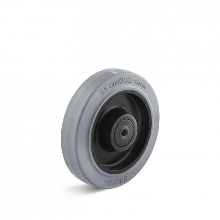 Elastik-Vollgummirad - mit Rollen- oder Kugellager - Rad-Ø 100 bis 160 mm - Tragkraft 125 bis 400 kg