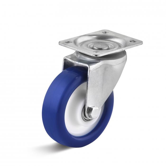 Medeltunga styrande roll - med Polyurethanrad - Hjul plast - med kullager