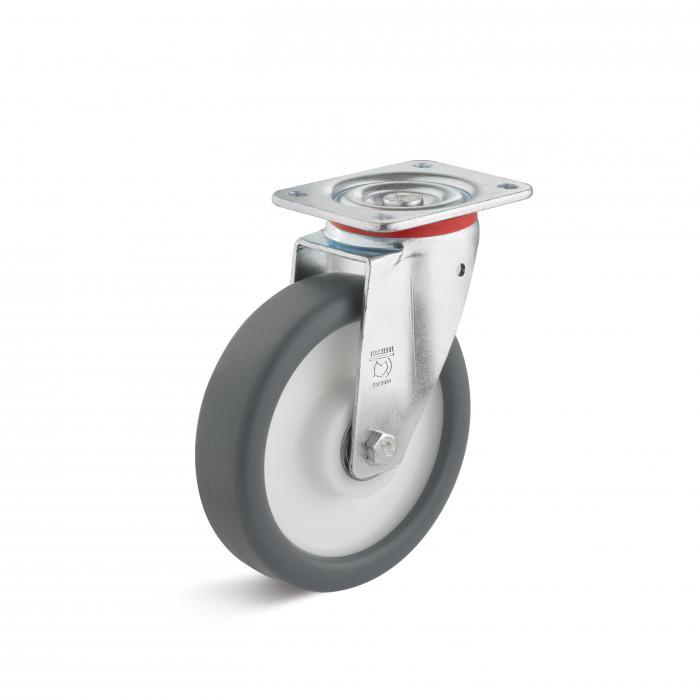 Lenkrolle - Thermoplastrad - Rad-Ø 80 bis 250 mm - Bauhöhe 108 bis 297 mm - Tragkraft 120 bis 450 kg