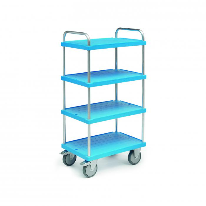 Chariot Shelf - capacité de charge de 500 kg - hauteurs de plancher variables - support en aluminium