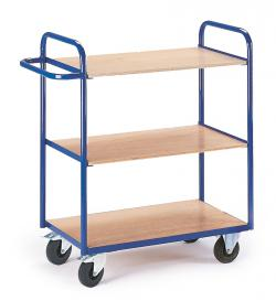 Shelved trolley without wall - load 150 kg
