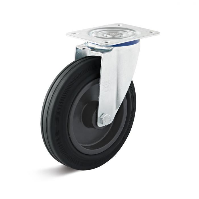 Lenkrolle - Thermoplastrad - Rad-Ø 80 bis 250 mm - Bauhöhe 100 bis 290 mm - Tragkraft 50 bis 295 kg
