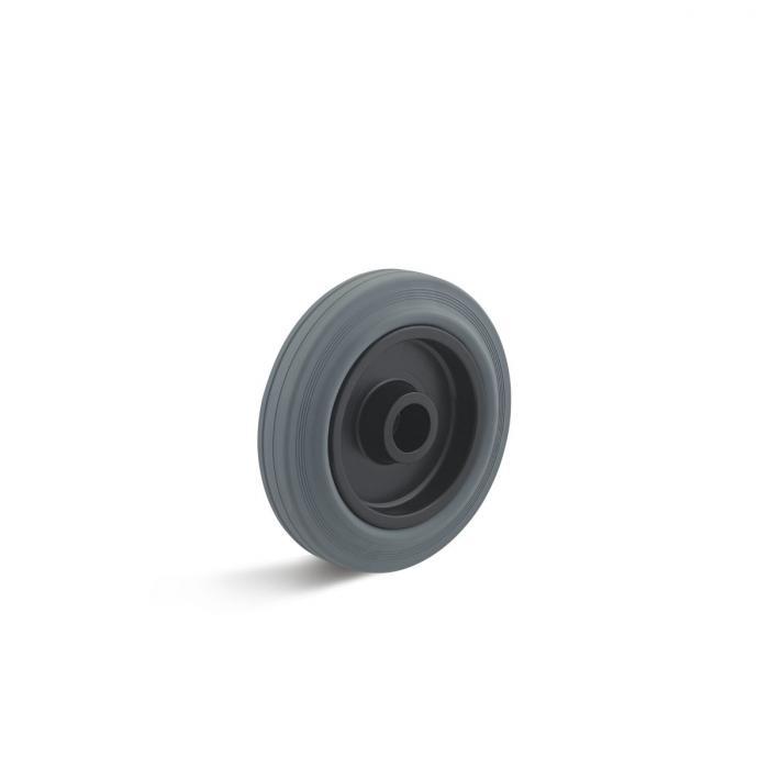 Thermoplastrad für Apparaterollen - mit Rollenlager - Rad-Ø 80 bis 400 mm - Tragkraft 50 bis 400 kg - grau