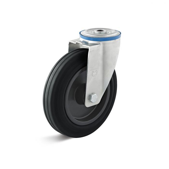 Lenkrolle - Thermoplastrad - Rad-Ø 80 bis 200 mm - Bauhöhe 100 bis 235 mm - Tragkraft 50 bis 205 kg