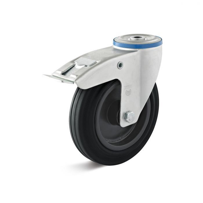 Lenkrolle - Thermoplastrad - Rückenloch - Rad-Ø 80 bis 200 mm - Bauhöhe 100 bis 235 mm - Tragkraft 50 bis 205 kg