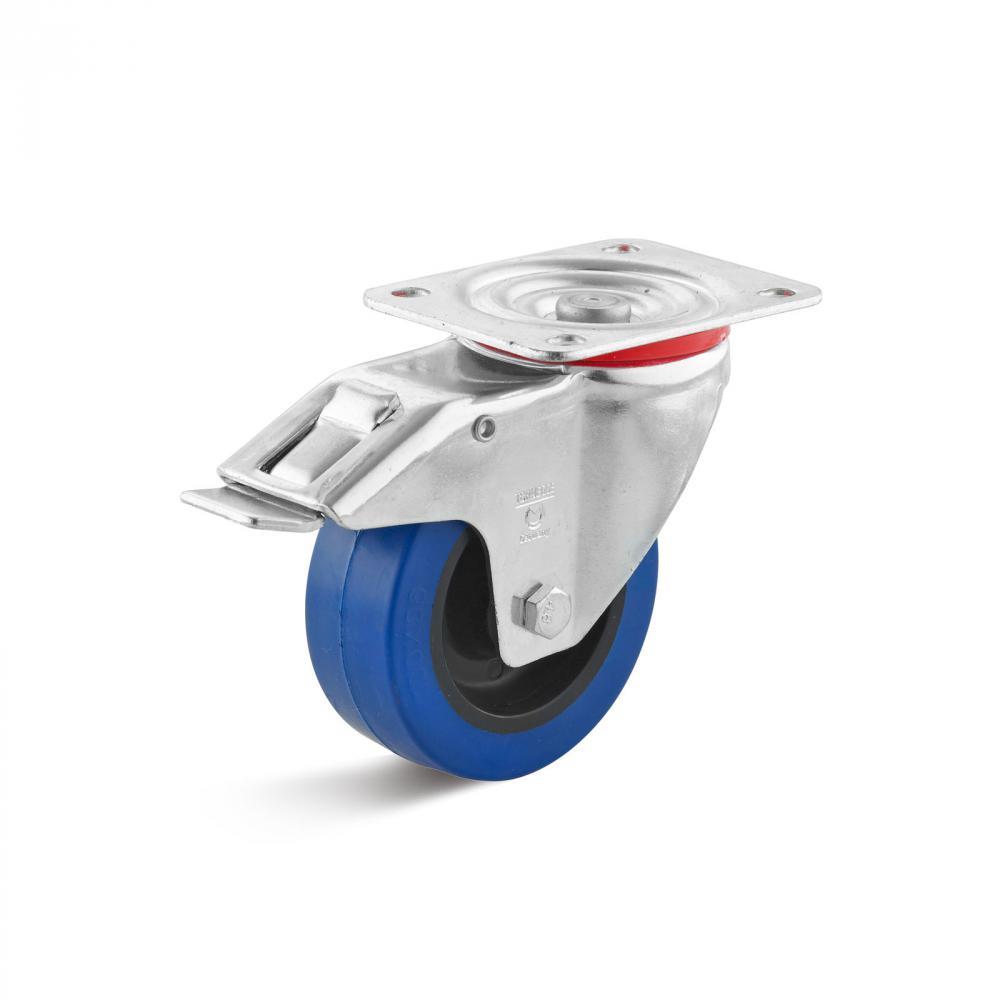 Bockrolle Durchmesser 200mm Tragfähigkeit 450kg Elastic-Vollgummirad