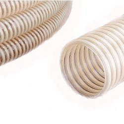 Spiralslang - PVC - transparent - på rulle - inner-Ø 13-100 mm
