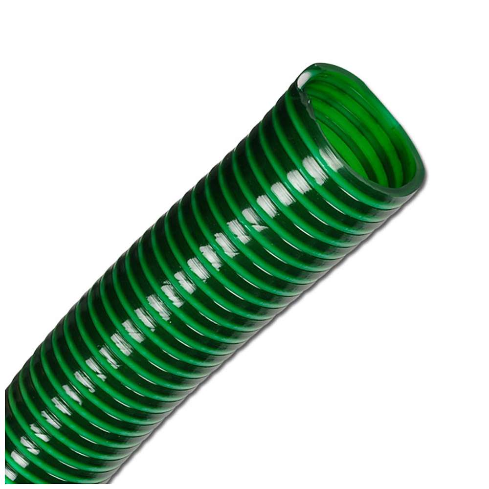 Saug- und Druckschlauch - hochflexibel - Innen-Ø 19 bis 50 mm - Außen-Ø 25,6 bis 58,6 mm - grün - 50 m - Preis per Rolle