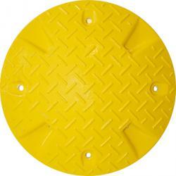 Progi zwalniające wykonane z materiałów pochodzących z recyklingu - w jednym kawałku - żółty
