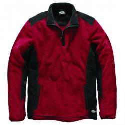 "Micro-Fleece Jacke - ""Two Tone"" - Dickies - 100% Polyester-Micro-Fleece - Größe XXXL - rot/schwarz"
