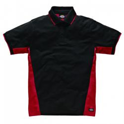 "Polo ""Two Tone"" - Dickies - rosso / nero"