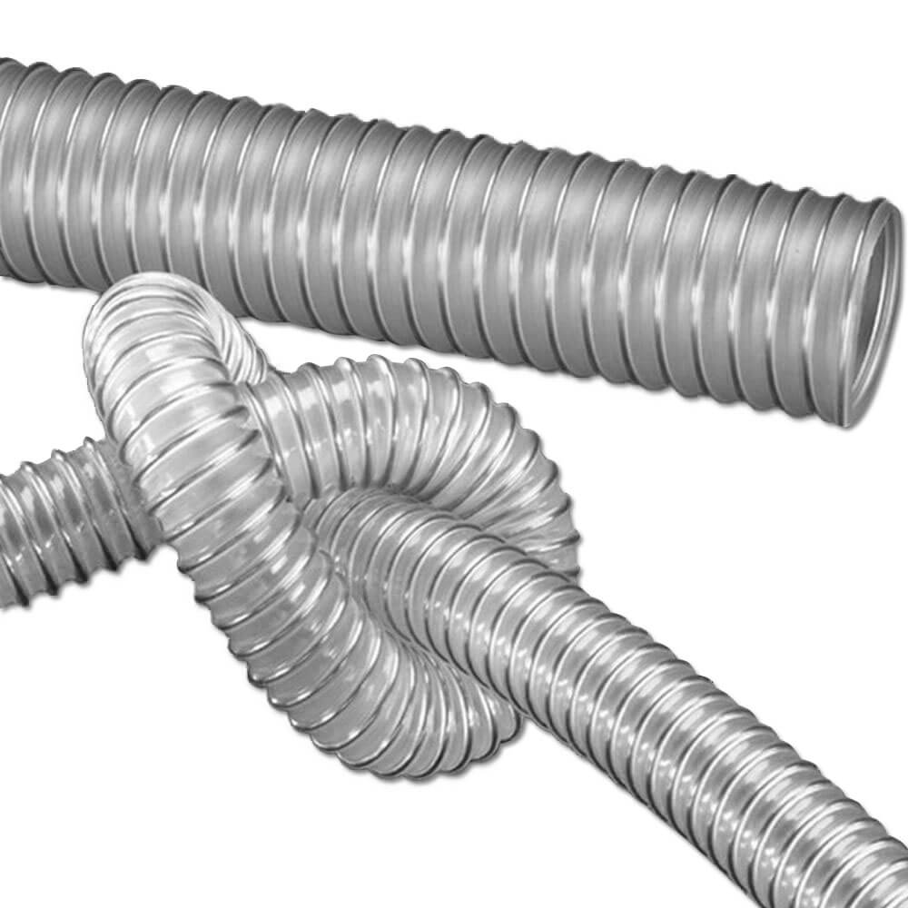 PUR sugslang - granulat - flexibel - inner-Ø  38 -  150 mm