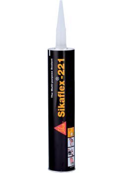 Sikaflex 221 tätningsmedel - patron - olika färger - Sika