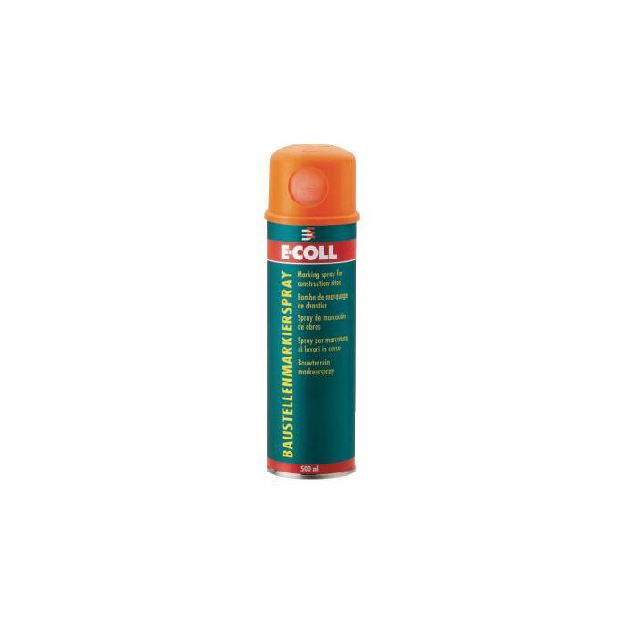 Baustellenmarkierspray - rot/ pink/ gelb/ blau - 500ml - E-COLL