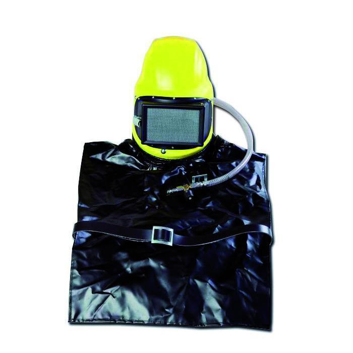 Strålskyddshjälm C4 Plus - glasfiber-polyester - med läderskydd och ärmar - reglerventil
