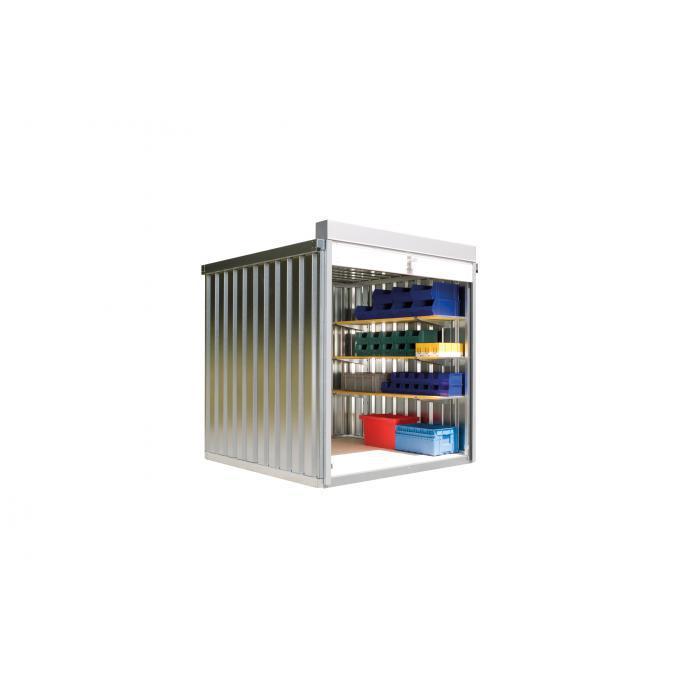 """Rollladenbox """"RB"""" - 2/ 4/ 6 m² - montiert - mit Holzboden - FLADAFI®"""