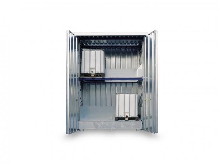 """Hylla container """"SAFE Center"""" - isolerat - aktiv och passiv förvaring"""