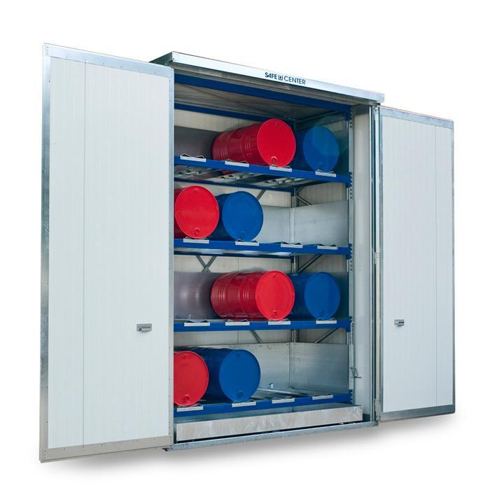 "Regalcontainer ""SAFE Center"" - isoliert - aktive und passive Lagerung"