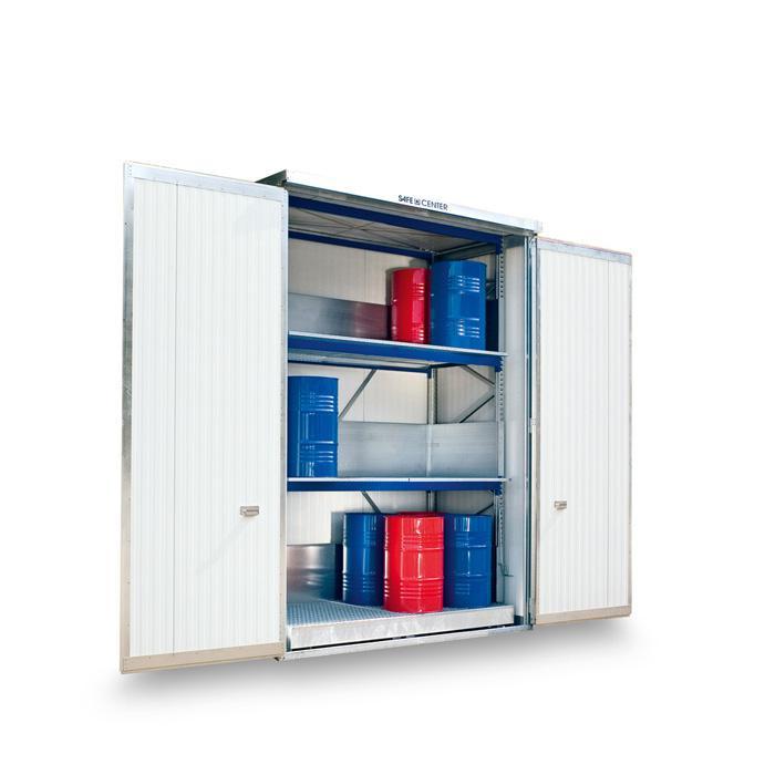 "Regalcontainer ""SAFE Center"" - isoliert - WGK 1-3"
