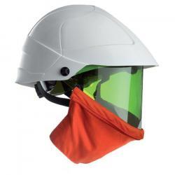 Gesichtsschutzhelm - verstellbar 52-64 cm - HD-Polypropylen/ Polycarbonat - mit IR- und UV-Schutz